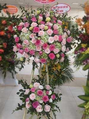 Hoa khai trương hoa hồng cẩm tú cầu
